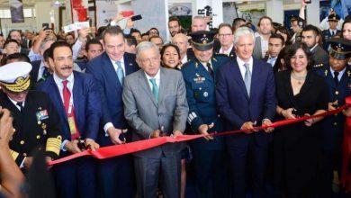 Photo of AMLO y Alfredo del Mazo inauguran Feria Aeroespacial México 2019 en la Base Aérea de Santa Lucía de Zumpango